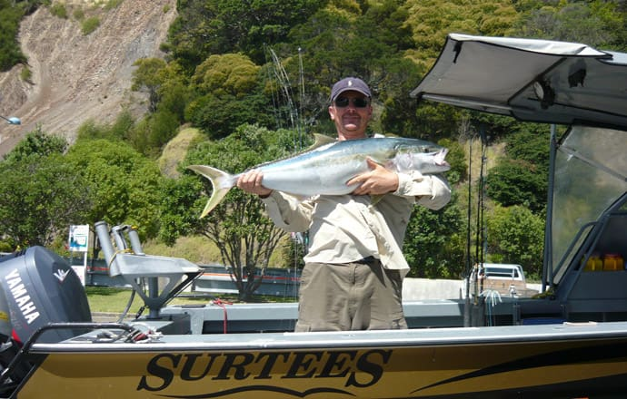 A Kingfish caught on His Nibs II